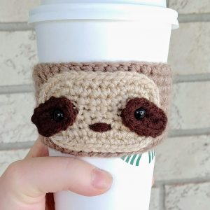 Sloth Coffee Cozy Crochet Pattern