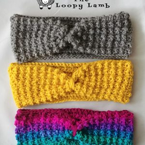 Tiny Pebbles Ear Warmer Free Crochet Pattern