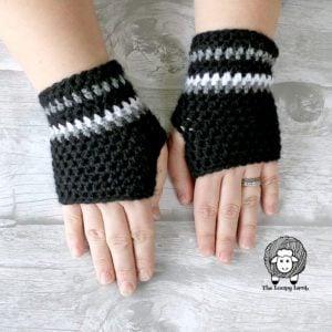 Mommy's Go-To Fingerless Gloves Crochet Pattern