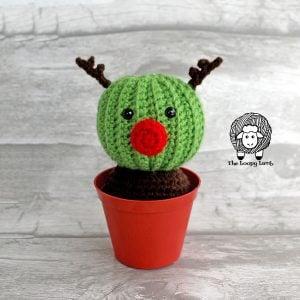 Randy the Reindeer Cactus Free Crochet Pattern