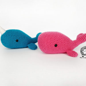 Wanda the Whale and Ned the Narwhal – Crochet Whale