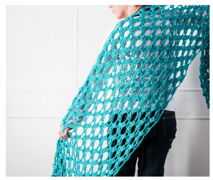 Crochet Diamond Blanket Scarf Wrap