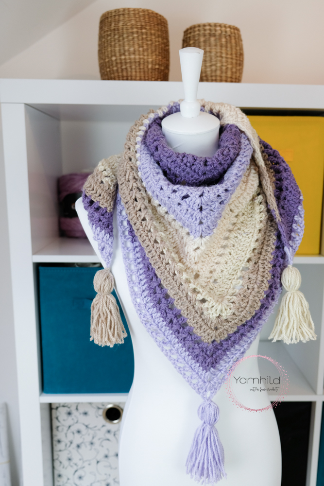 Lavender Delight Spring Shawl