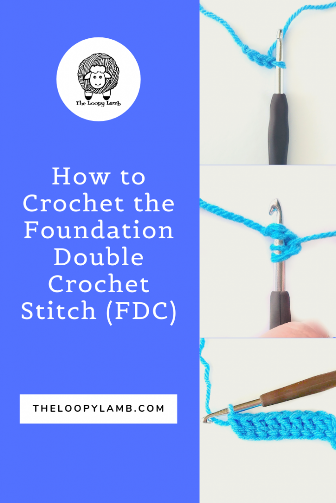 step by step photos showing how to crochet the foundation double crochet stitch.