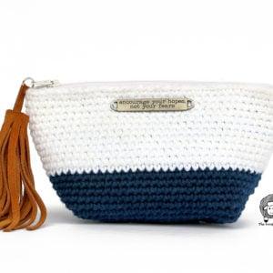 Colour Block Make Up Bag Crochet Pattern