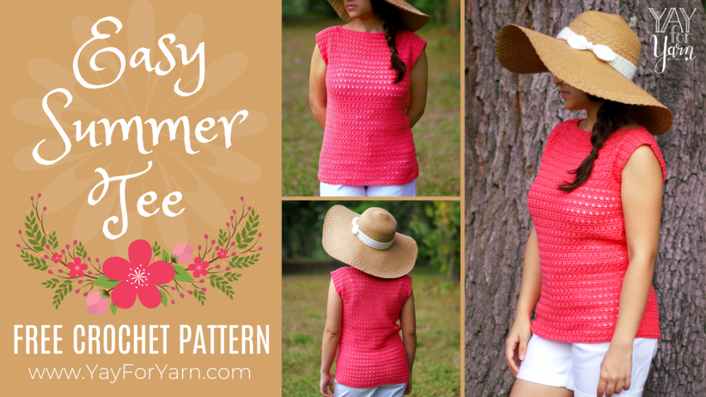 easy summer tee pattern as part of this summer crochet patterns round up