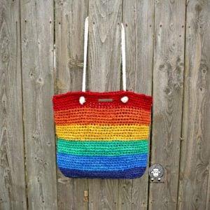 Rainbow Saver Tote Crochet Pattern