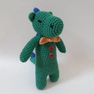 Free Crochet Dinosaur Pattern: Derek The Dinosaur by Sharky Knows Crochet