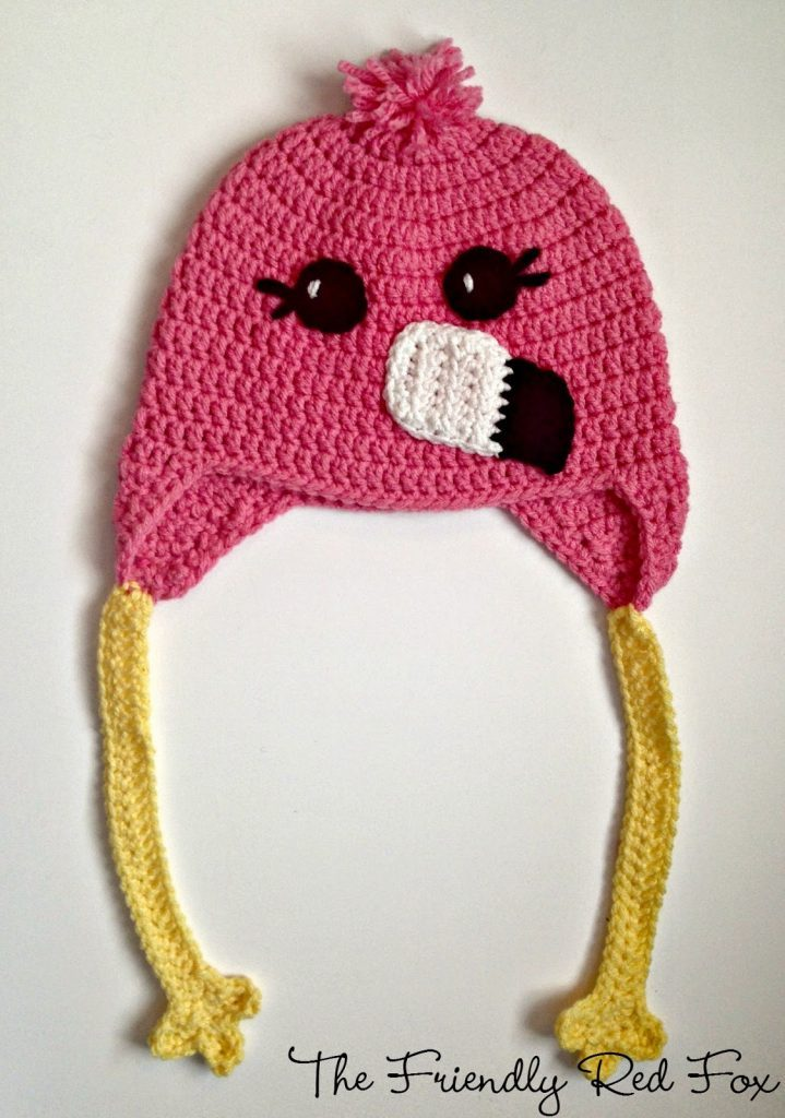 Flamingo Style Crochet Hat by The Friendly Red Fox