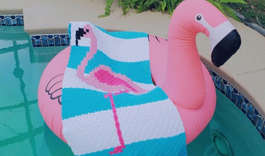 Flamingo Towel by Stitch and Hound