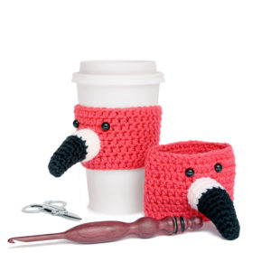 Flamingo Cup Cozy: The Flamin-To-Go Cup Cozy Pattern