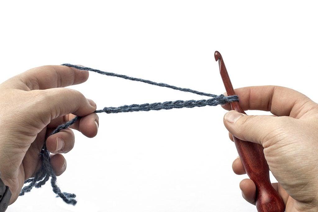 Step One of the Single Crochet Stitch