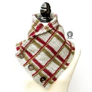 Crochet Tartan Cowl – Free Crochet Cowl Pattern