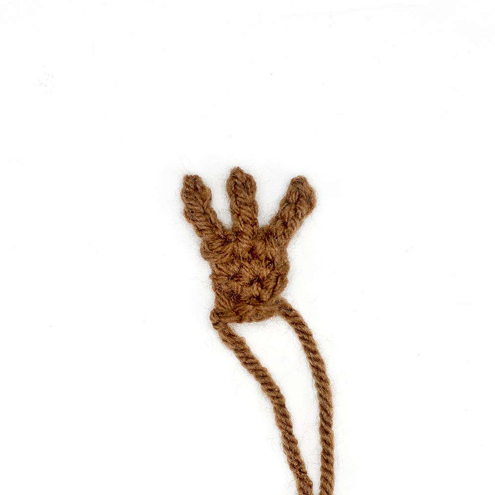 crochet owl foot used in this crochet owl lovey free pattern