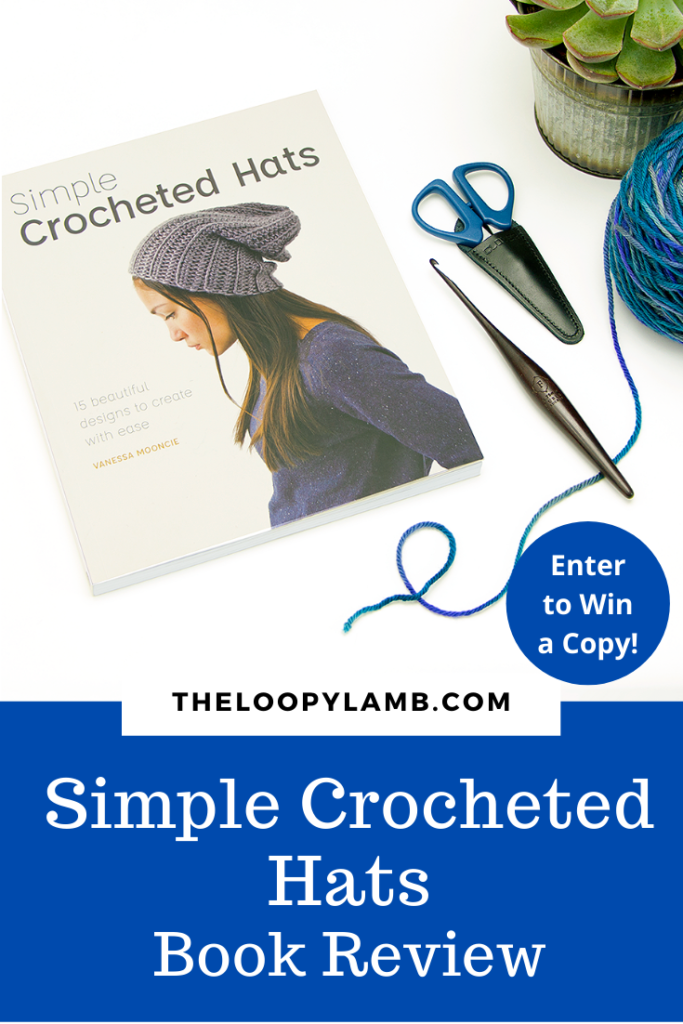 Cover image of Simple Crocheted Hats Book with text overlay indicating a book review