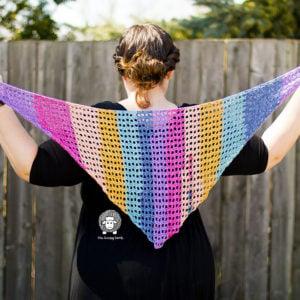 Crochet Shawlette Free Pattern: Spring Breeze Shawlette