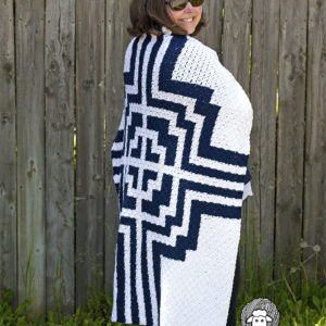 Free Crochet Pattern for a C2C Blanket