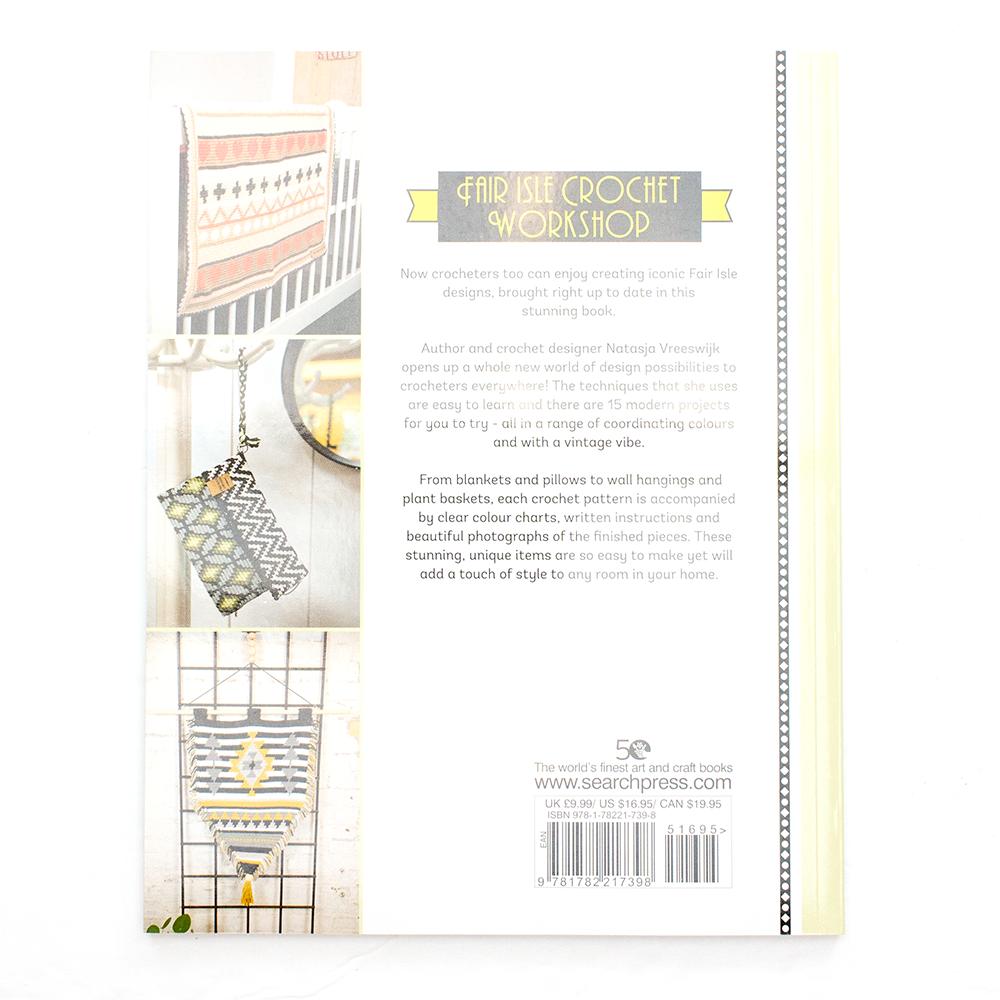 Back Cover of the Fair Isle Crochet Workshop book.