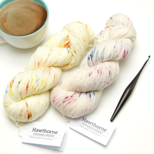 Hawthorne Fingering Yarn Review: Hand-Paint Speckle