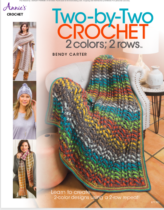 Cover of the Two-By-Two Crochet book available from Annie's