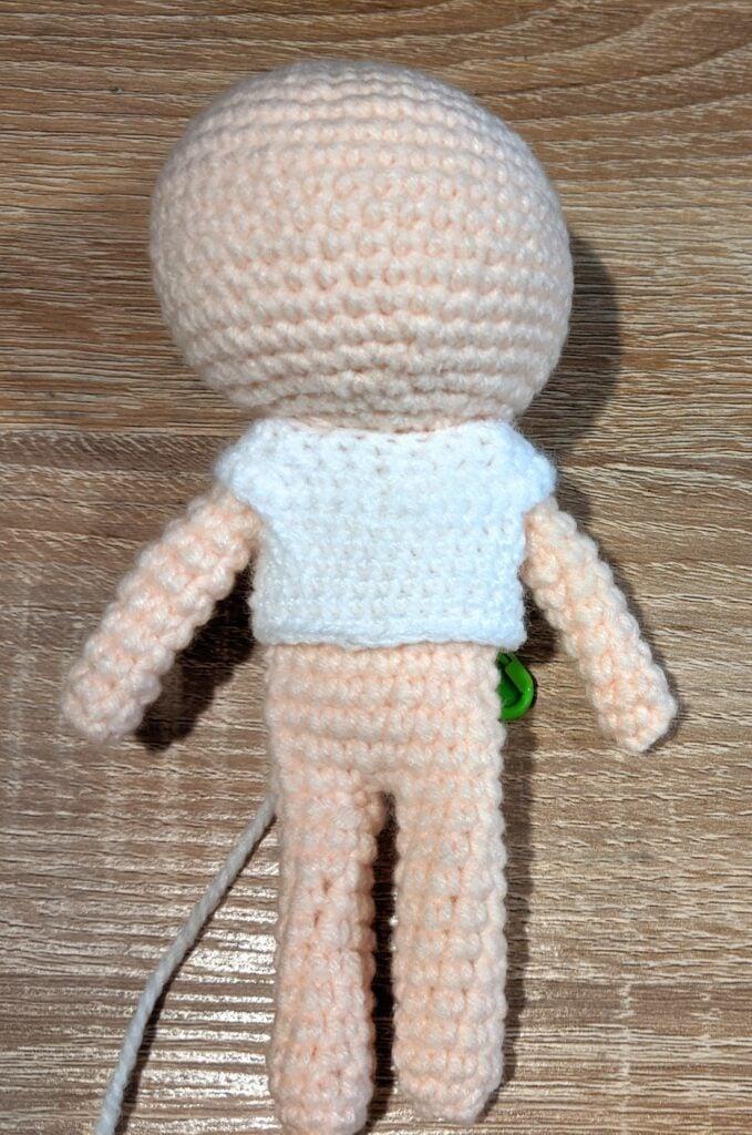 unfinished amigurumi doll pattern