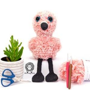 Free Crochet Flamingo Pattern for Flikka Flamingo