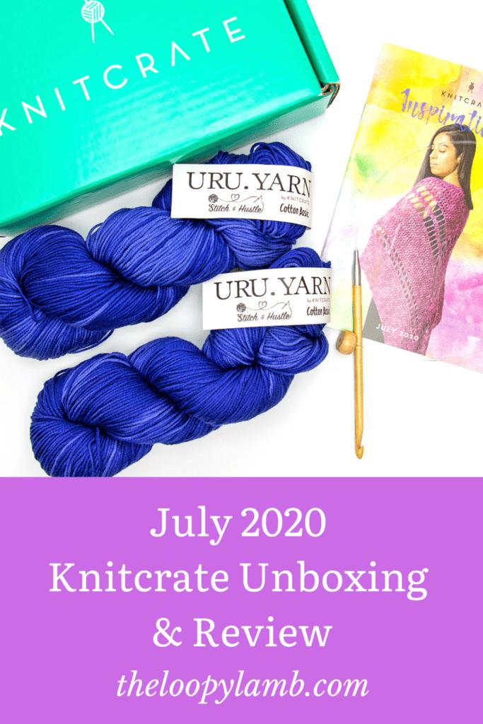 July 2020 Knitcrate contents