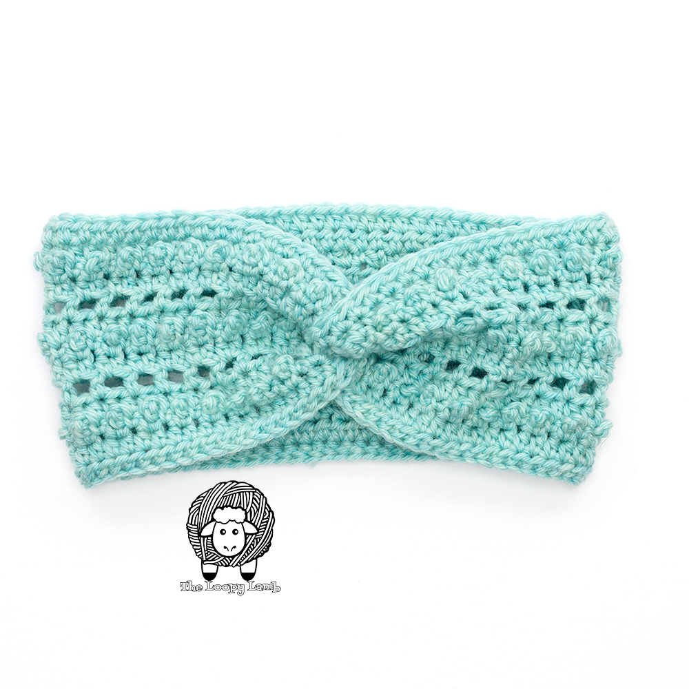 Picot Me Up Crochet Ear Warmer made using Picot Single Crochet Stitch