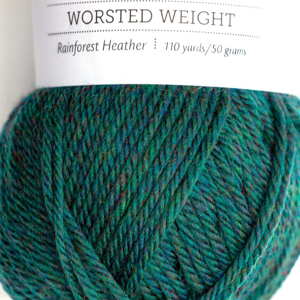 rainforest heather yarn close up