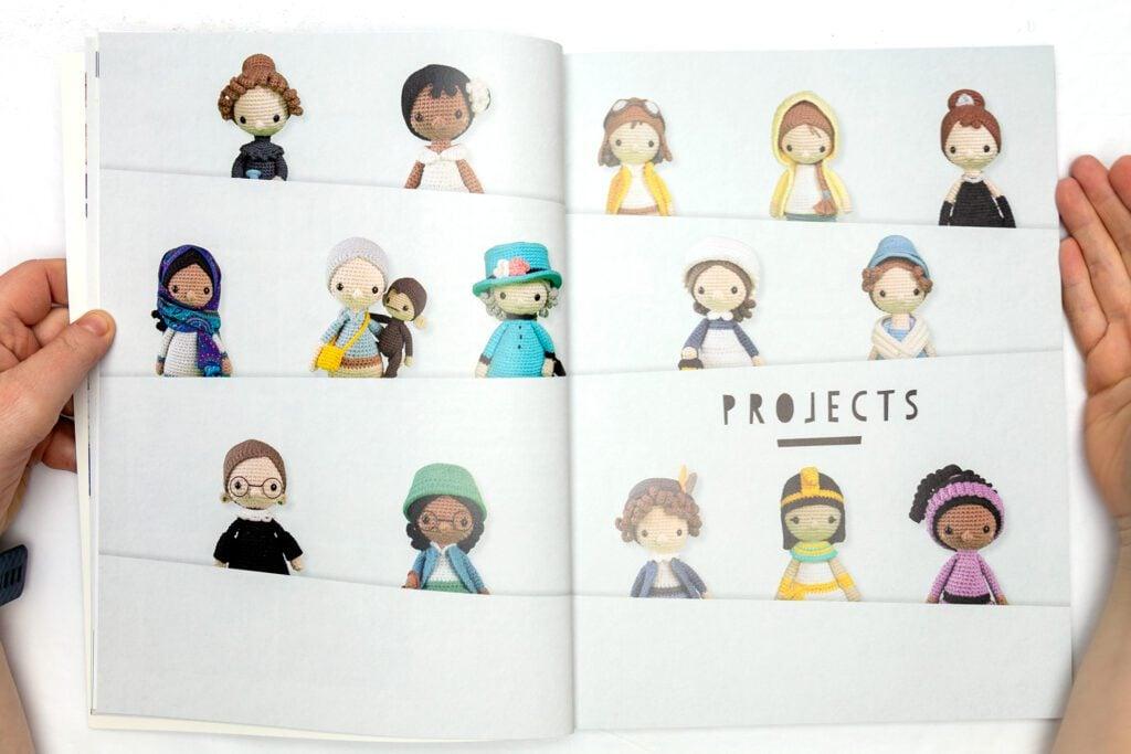 Projects inside crochet iconic women