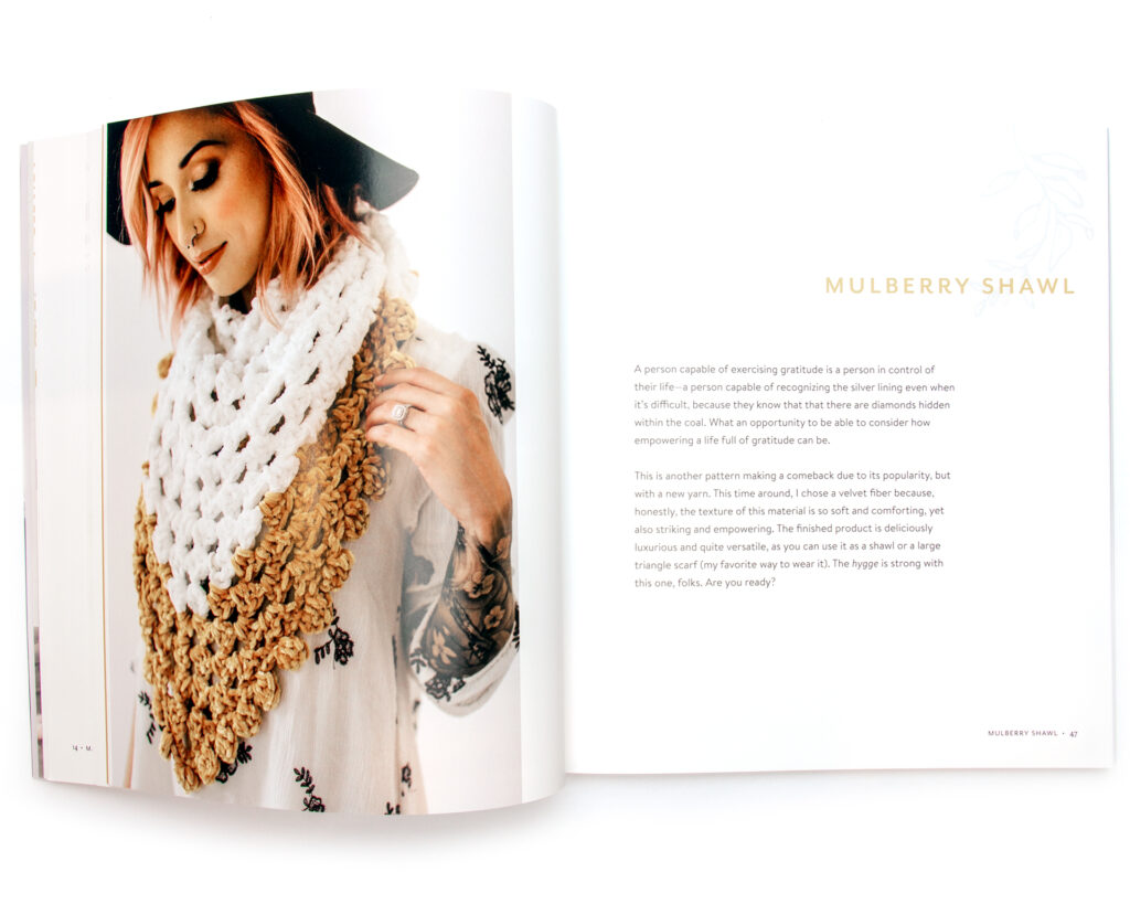 Mulberry Shawl image from inside the book being reviewed