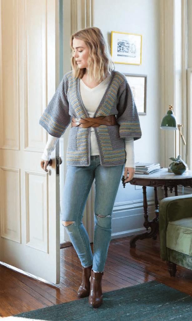 tunisian crochet jacket featured in Modern Tunisian