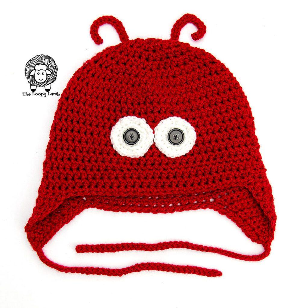 Red Crochet lobster hat