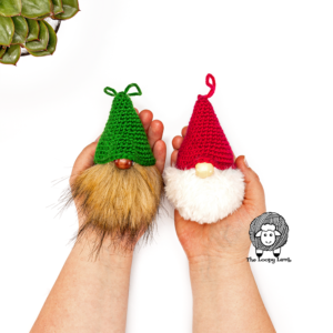 Crochet Gnome Christmas Tree Ornament Pattern