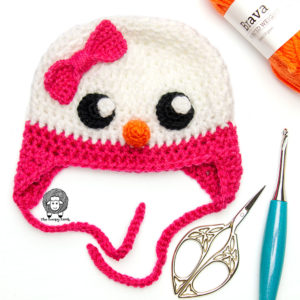 Snowella Crochet Snowman Hat Free Pattern