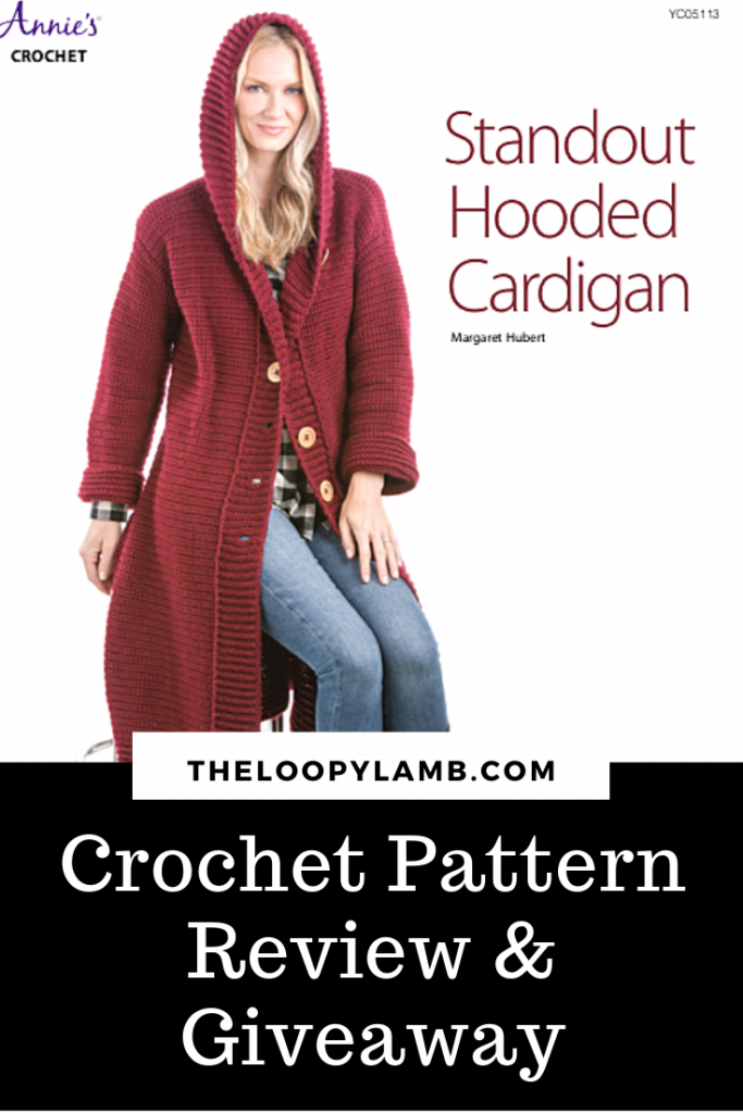 Woman wearing the Standout Hooded Cardigan Pattern