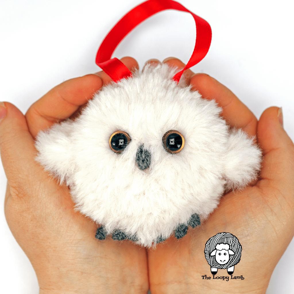 faux fur crochet owl ornament free pattern