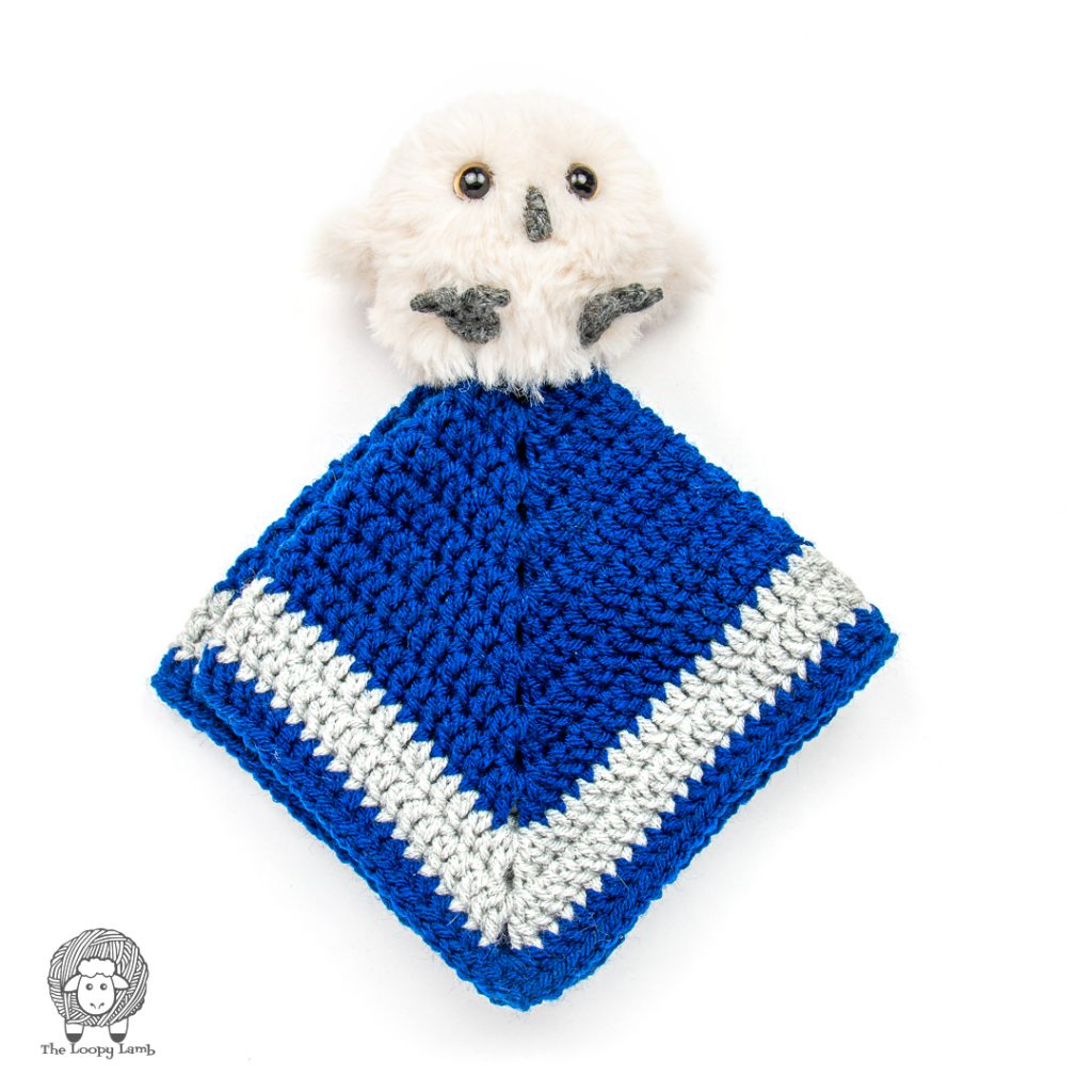 sample made with this crochet owl lovey free pattern