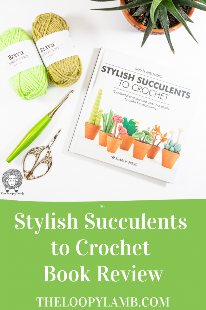 Copy of Stylish Succulents to Crochet in a flat lay with crochet accessories