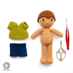 Free Amigurumi Doll Clothes Pattern – CAL Week 3