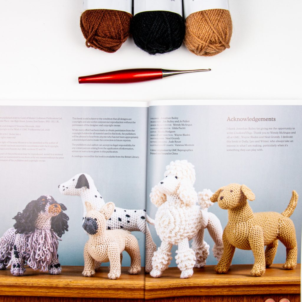 Image of amigurumi dogs found in Crocheted Dogs by Vanessa Mooncie