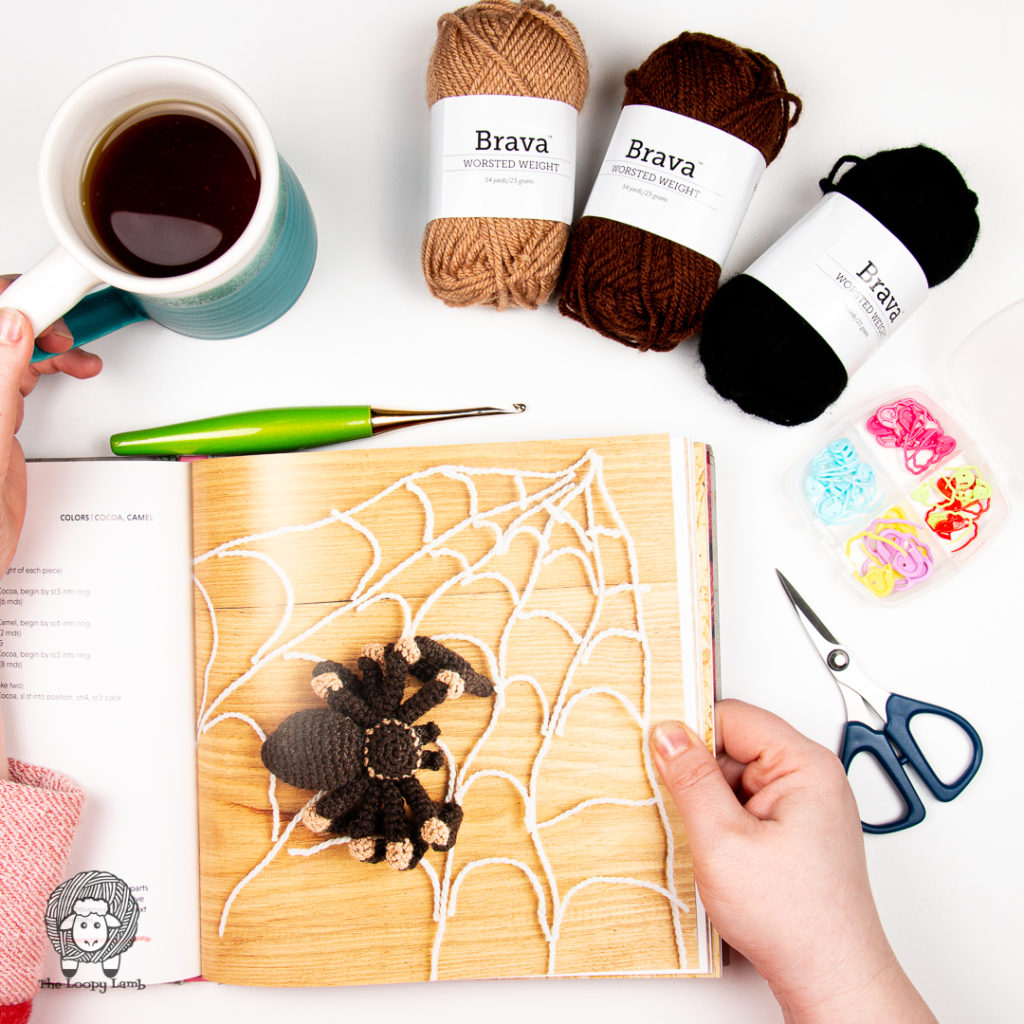 crochet tarantula from How to Crochet Animals: Pets by Kerry Lord