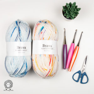 Brava Worsted Speckle Yarn Review