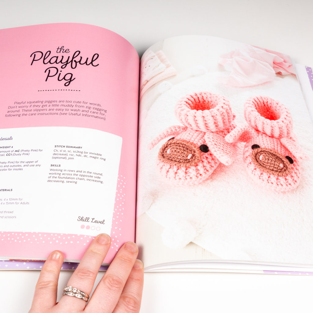 pig slippers from the book being reviewed.