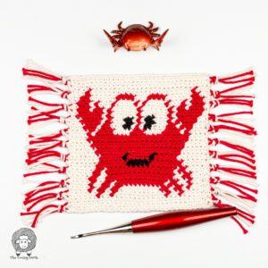 Crochet Crab Mug Rug Free Pattern