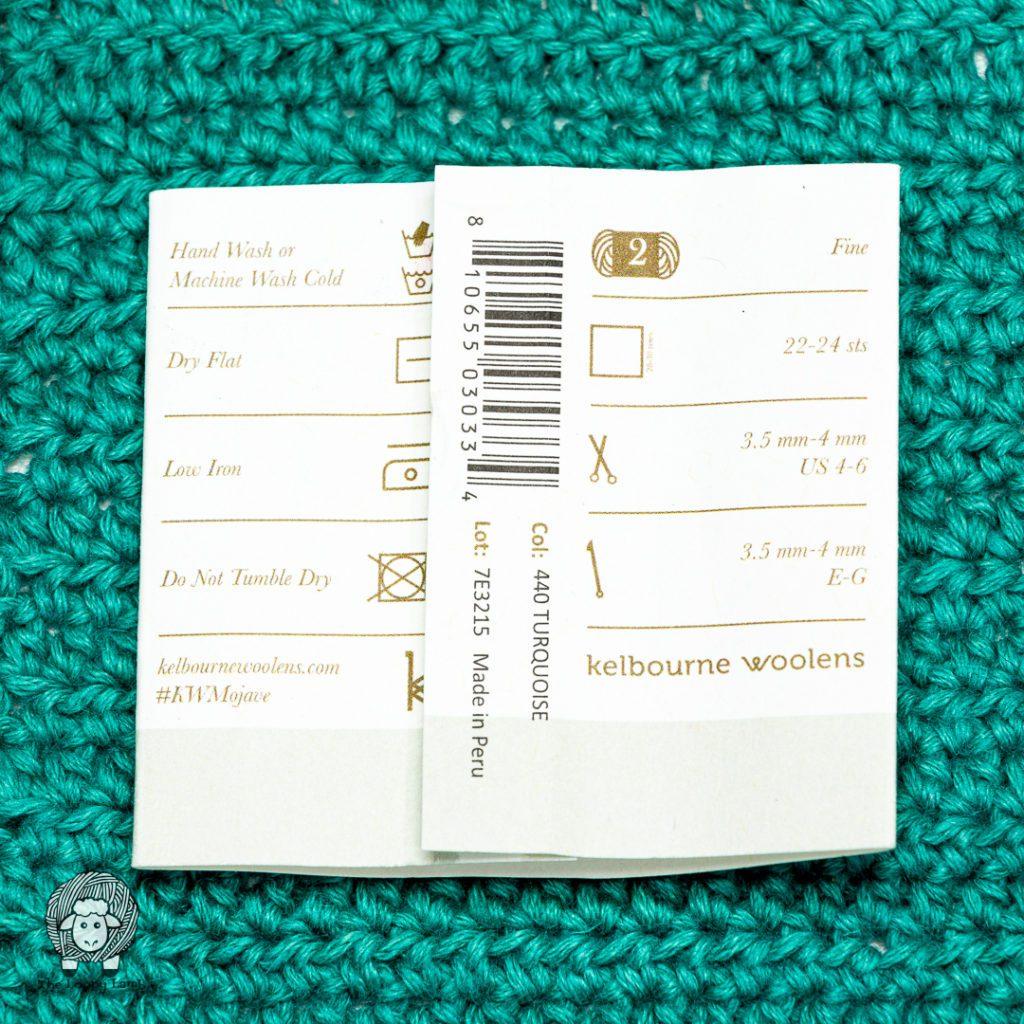 Kelbourne Woolens Mojave Yarn Label