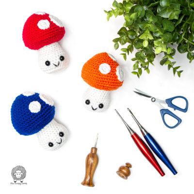 Free Crochet Mushroom Pattern – The Fun Guys