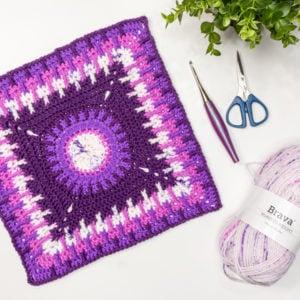 Crochet Blanket Square Free Pattern