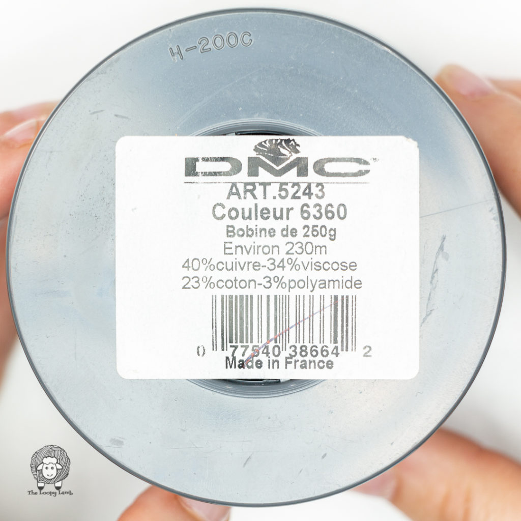 label of the DMC Memory Thread Cone in Blue