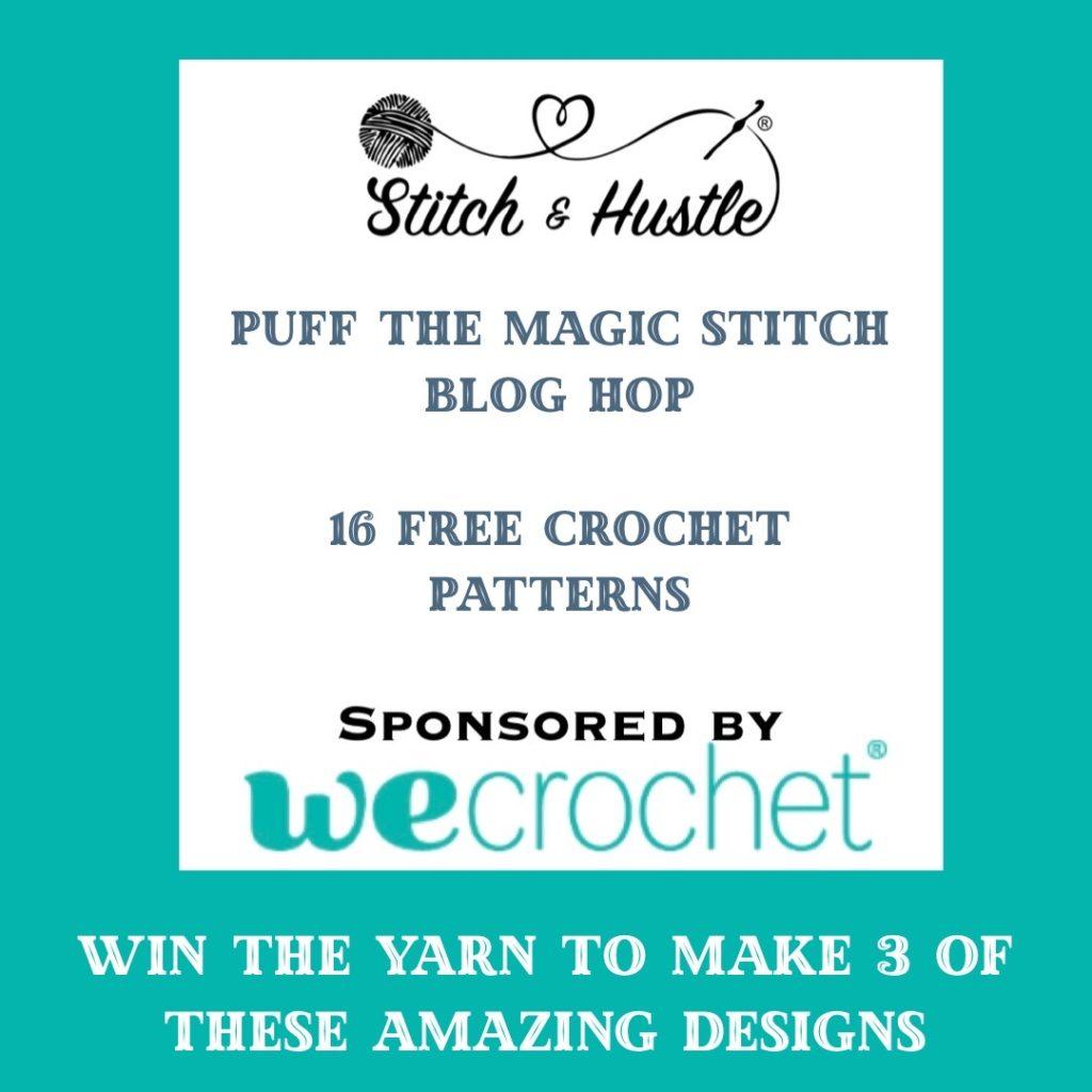 Blog hop information#wecrochetofficial #wecrochet #stitchandhustle #2021StitchAndHustleBlogHop